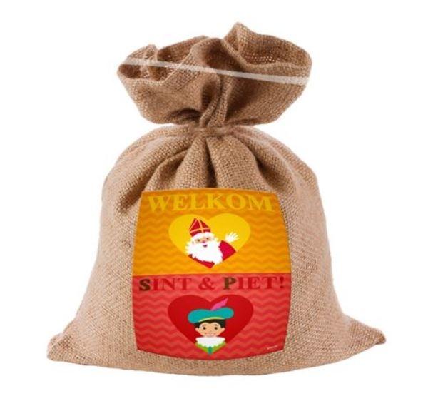 Sinterklaas Jute Strooizakje Sint&Piet Mini
