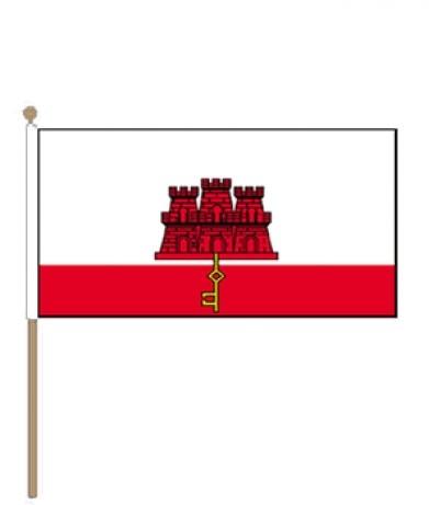 zwaaivlag Gibraltar Gibraltarese vlaggen 30x45cm