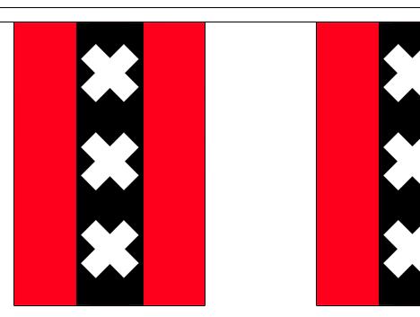 Vlaggenlijn amsterdam 3m stof