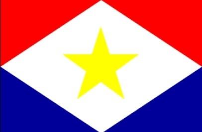 Vlag Nederlands Caribische eiland Saba 30x45cm