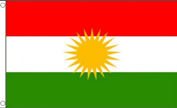Vlag Koerdistan 60x90cm