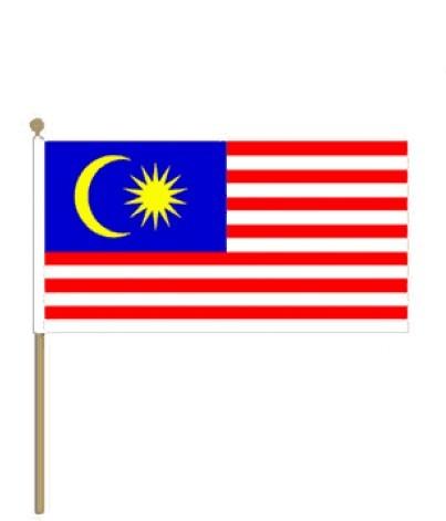 Luxe zwaaivlag Maleisie 30x45cm