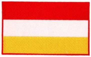 Apllicatie Carnaval Oeteldonk vlag rood/wit/geel