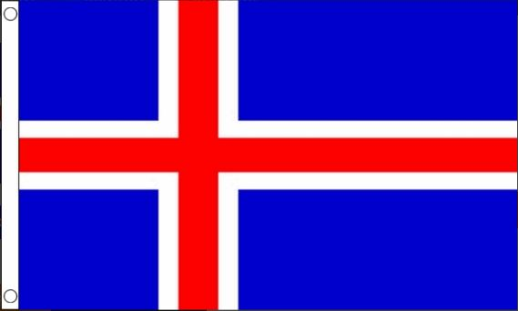 Vlag IJsland 60x90cm Best Value