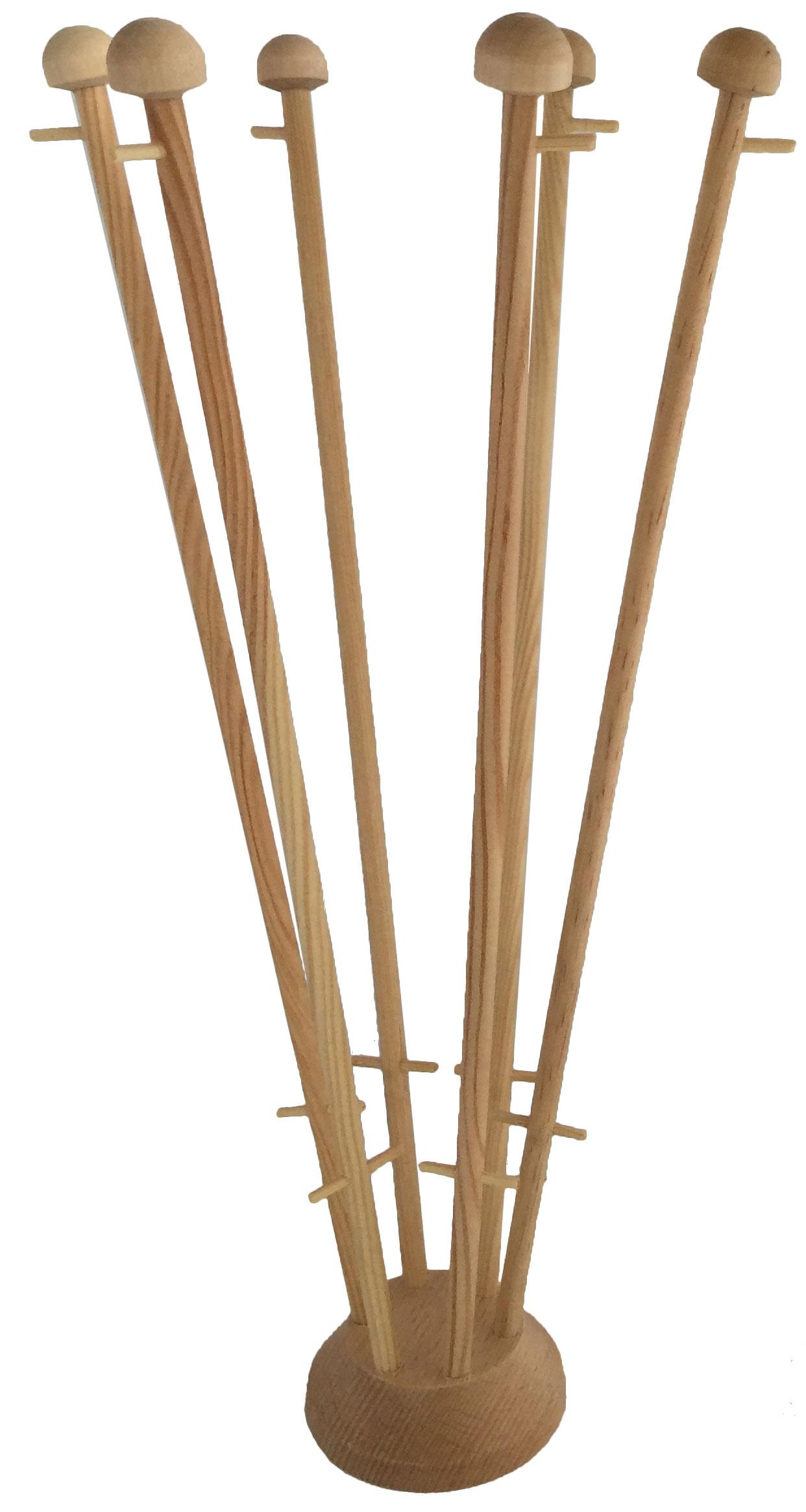 Houten tafelstandaard voor zes tafelvlaggen
