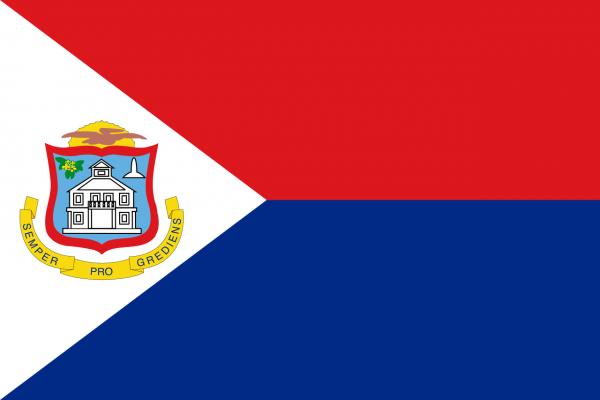 Vlag Sint Maarten 100x150cm Glanspoly