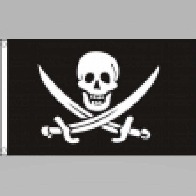 Piratenvlag Jack Rackham groot 90x150cm