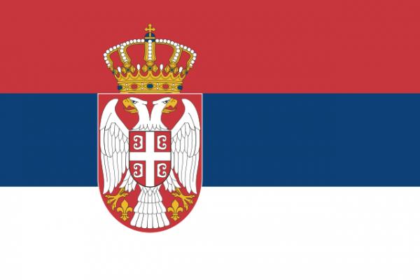 Servische vlag Servië 150x225cm