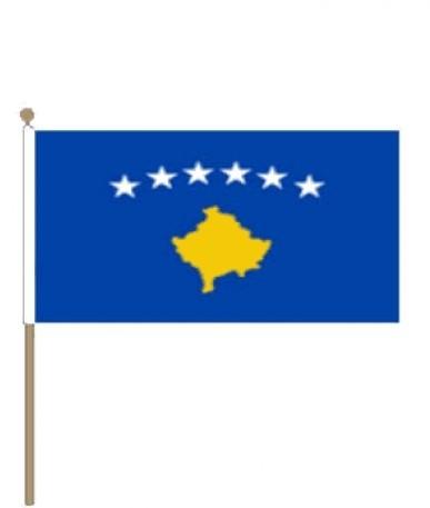Zwaaivlag Kosovo 15x22,5cm