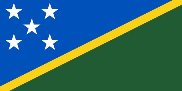 Tafelvlag Salomonseilanden met standaard