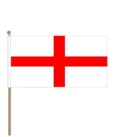 Zwaaivlag Engeland, Engelse zwaaivlag 15x22,5cm, stoklengte 30cm