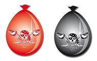 Red Pirate ballonnen 8 stuks vlaggenclub