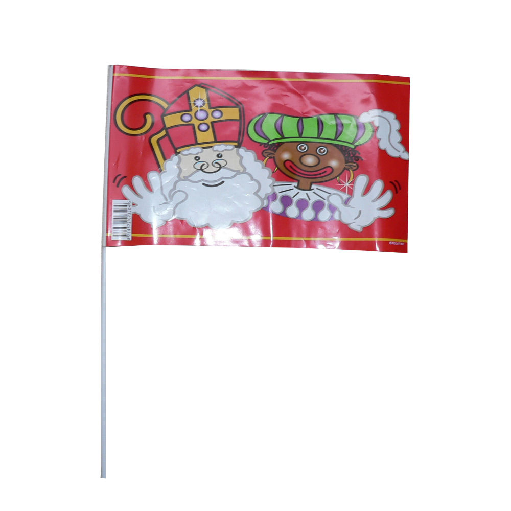 Sinterklaas zwaaivlaggen rood