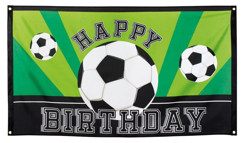 Voetbalvlag happy birthday 90x150cm