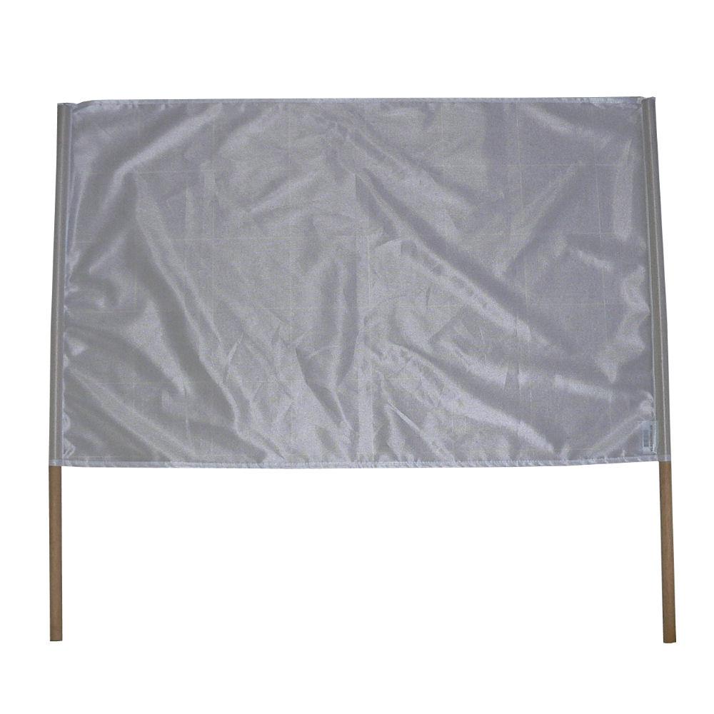 Spandoek wit 60x90cm behorend bij spandoeken pakket van Vlaggenclub