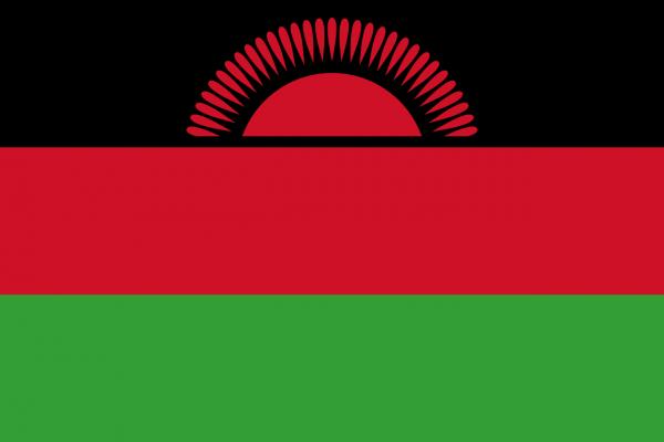 Vlag Malawi 100x150cm Glanspoly