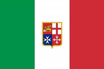 Italiaanse vlag Italië met wapen 50x75cm
