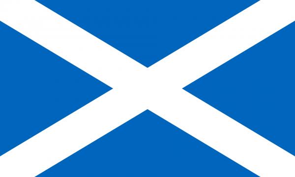 Tafelvlag Schotland met standaard