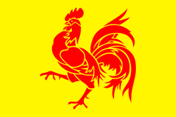 Tafelvlag Wallonië rode haan 10x15 cm