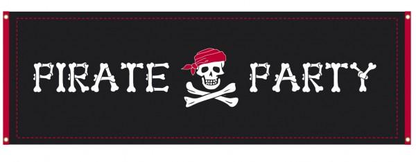 Piraten spandoek Pirate Party 2,2m Skull Island