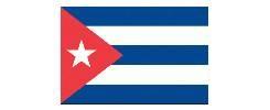 Vlag Cuba 20x30cm Cubaans vlaggetje
