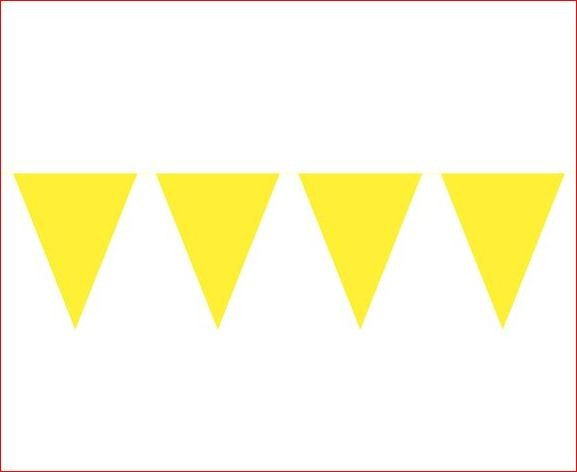 Vlaggenlijn geel effen gele vlaggenlijnen