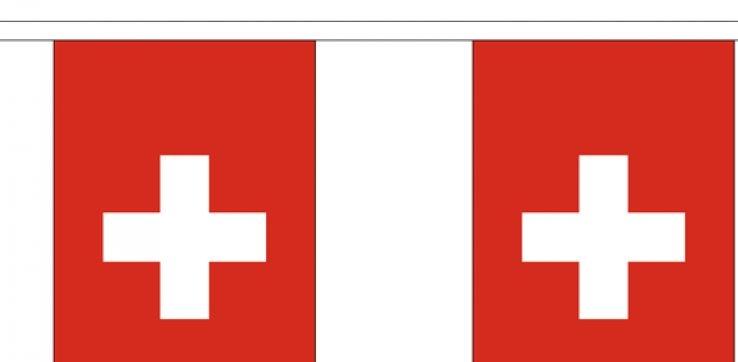 Vlaggenlijn Zwitserland  Zwitserse  vlaggenlijnen 3m