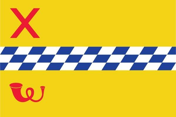 Vlag gemeente Woerden 20x30cm