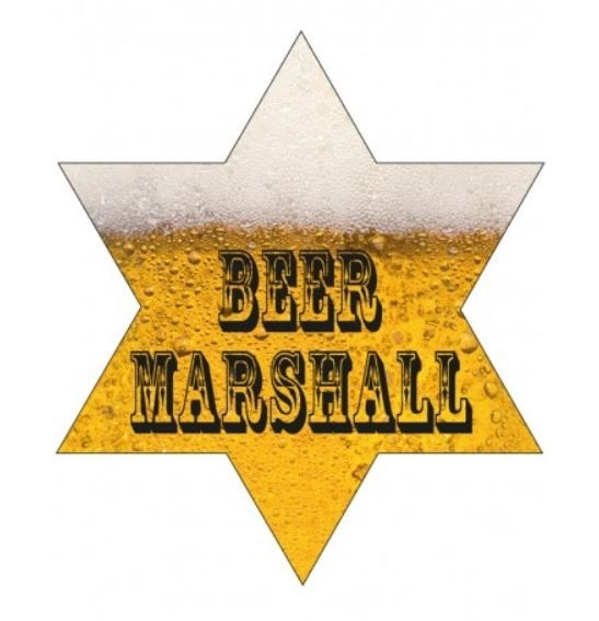 Bier Marshall broche met LED