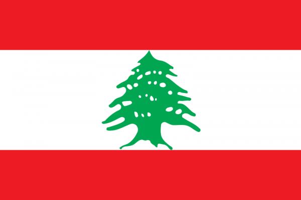 Vlag Libanon 100x150cm Glanspoly