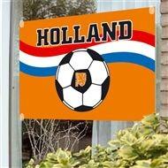 Raamvlag met voetbal 100x150cm voor ieder EK | WK