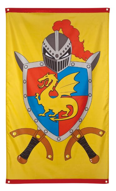 riddervlag groot, xl-maat 90x150cm kinderkamer, feestje