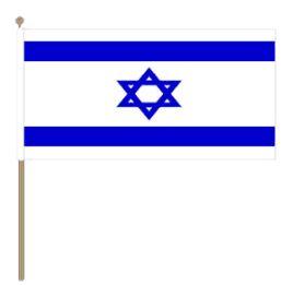 Zwaaivlag Israël, Israëlische zwaaivlag 30x45cm, stoklengte 60cm