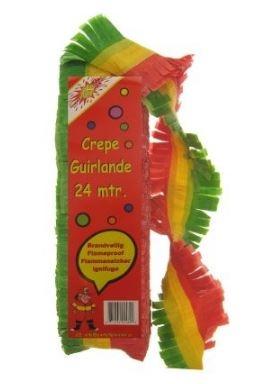 Guirlande slinger Carnaval Limburg Rood Geel Groen papier 10m brandvertragend