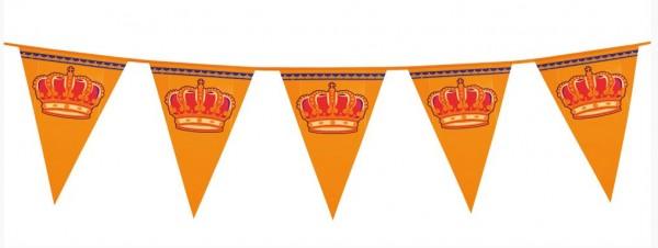 vlaggenlijn oranje met kroon XL 8m