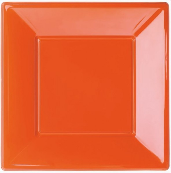 Borden Oranje Plastic Bordjes 8 stuks