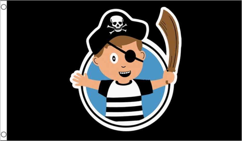 Grote Piratenvlag kind jongen 90x150cm