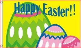 Vlag Pasen Paasvlag Happy Easter 90x150cm