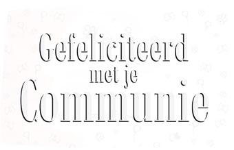 Vlag eerste Communie