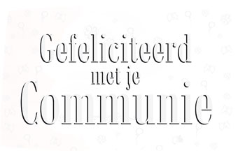 Vlag Gefeliciteerd met je Communie gevelvlag