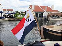 200 jaar Koninkrijk der Nederlanden vlag past perfect op iedere sloep en schip in diverse maten verkrijgbaar
