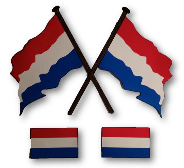 Stickers Nederlandse vlag 4 stuks