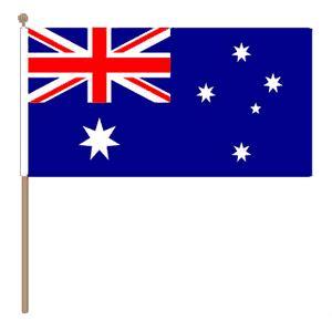 Zwaaivlag Australië 15x22,5cm stoklengte 30cm
