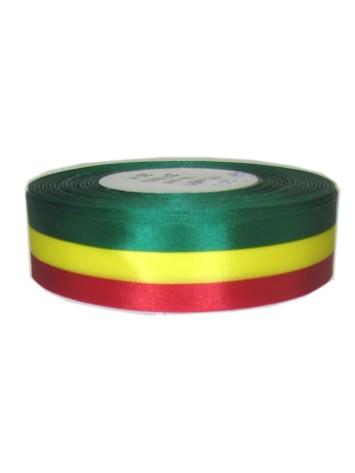 Lint Carnaval Limburg rood/geel/groen cadeaulint 10mm breed