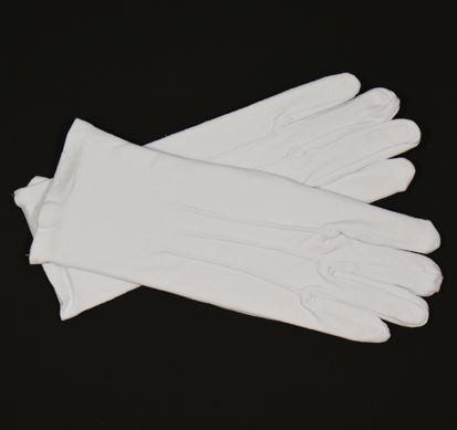 Luxe witte, korte handschoenen, maat XL