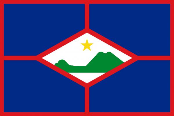 Vlag Sint Eustatius 100x150cm Glanspoly