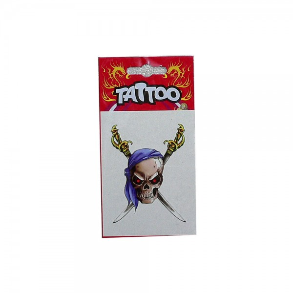 Tattoo Pirate Blue Bandana