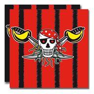 20 stuks servetten Red Pirate