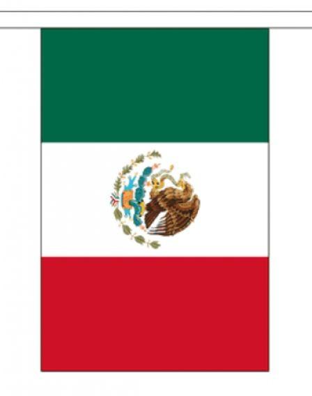 Vlaggenlijn Mexico 3 meter