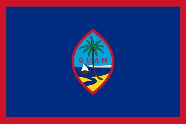 Tafelvlag Guam| Guams tafel vlaggetje 10x15cm